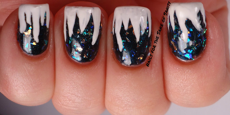 Icicles nail art by Kelly Callahan