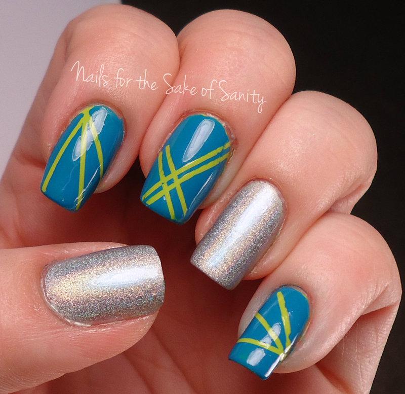 Lasers nail art by Kelly Callahan