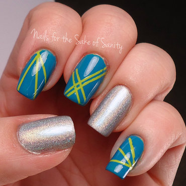 Lasers nail art by Kelly Callahan