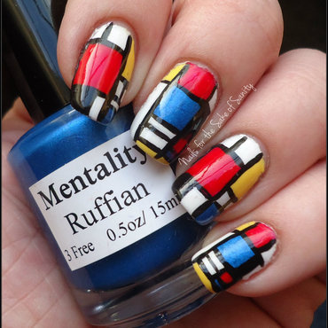 Mondrian nail art by Kelly Callahan
