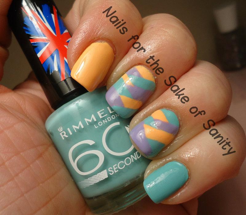 Pastel Braid nail art by Kelly Callahan