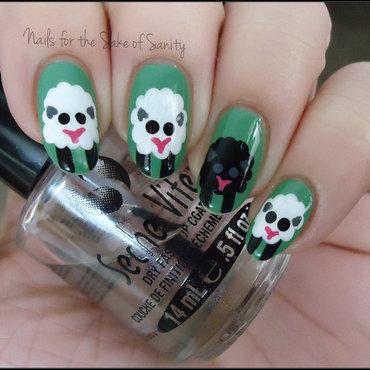 Sheep nail art by Kelly Callahan
