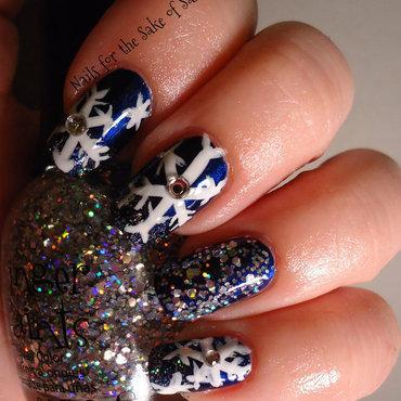 Snowflakes nail art by Kelly Callahan