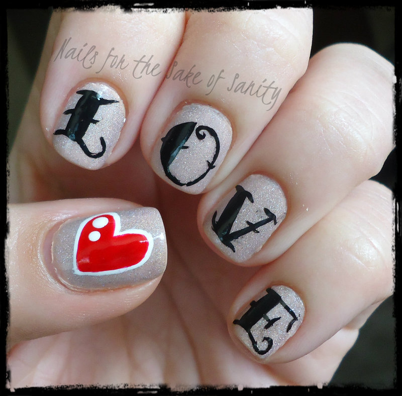Love Tattoo nail art by Kelly Callahan