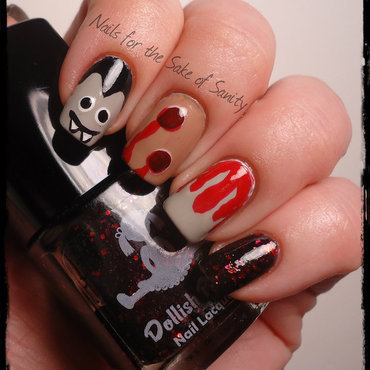Vampire nail art by Kelly Callahan