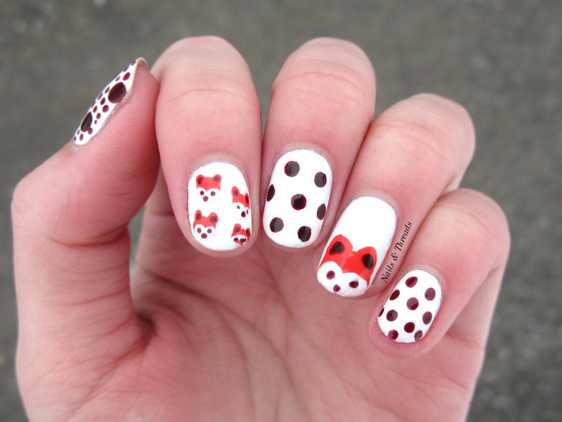 Cute Foxes Nail Art Nail Art By Nails Amp Threads Nailpolis Museum Of Nail Art