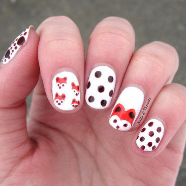 Cute Foxes Nail Art nail art by Nails & Threads