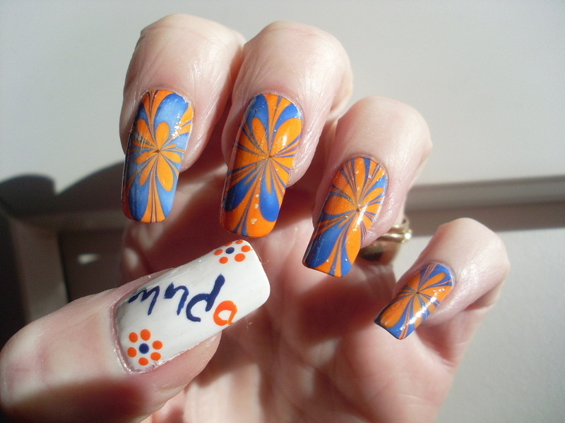 MNDA Aware nail art by Tracey - Bite no more