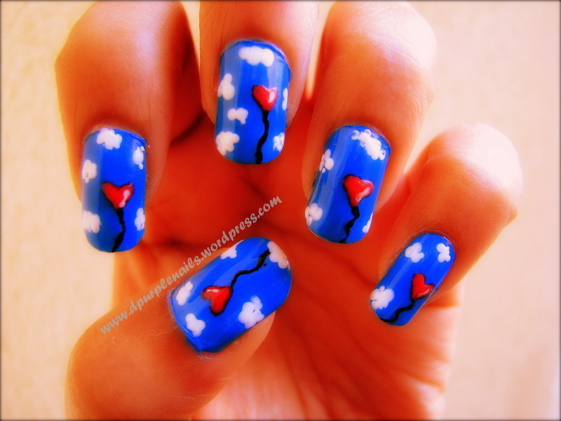 Love in the air nails nail art by Deepika