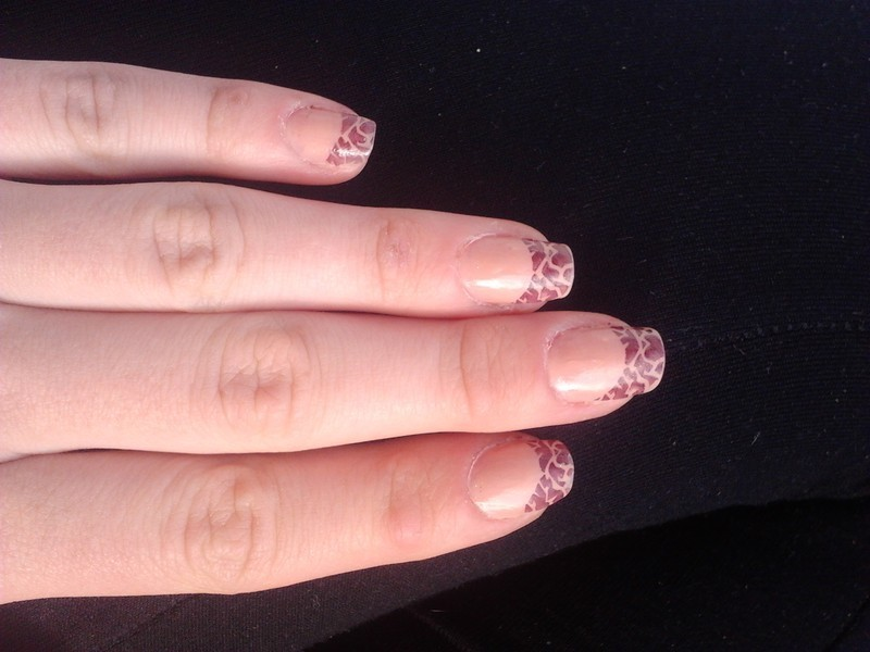 giraffe :) nail art by DesperateCry