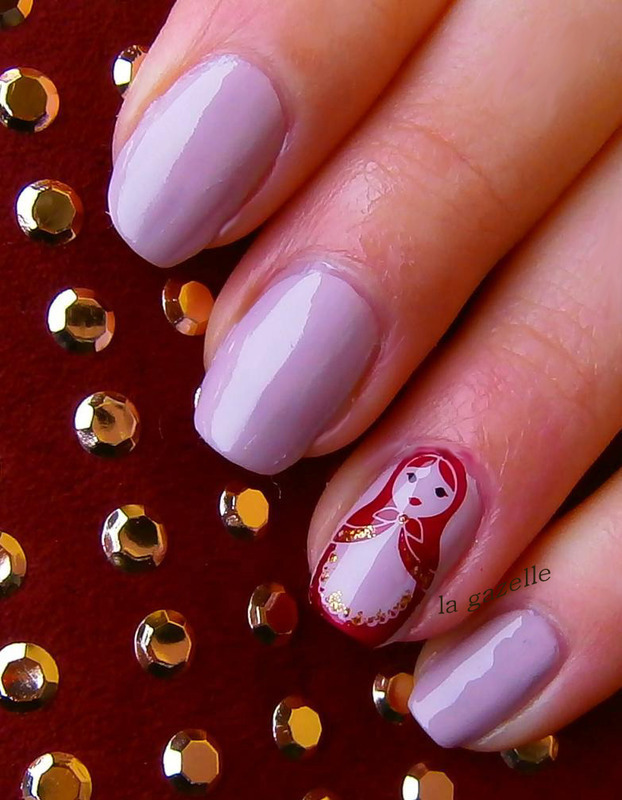 Matryoshka nail art by Stefanie