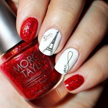 Love in Paris <3 nail art by Amethyst