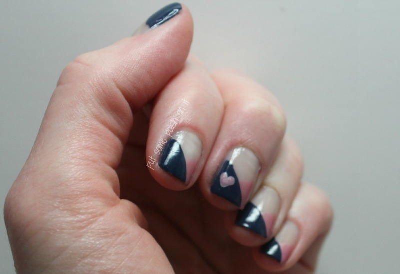 crisscross your heart nail art by Crystal