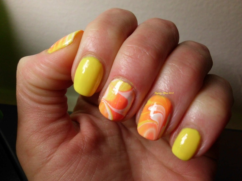 Sunfire nail art by Angelique Adams