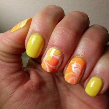 Sunfire nail art by Angelique Adams