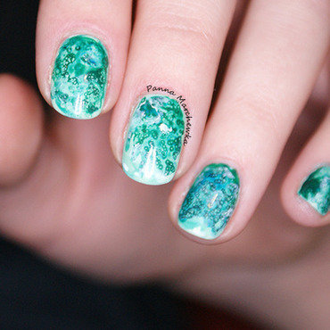 Salted Watercolor Nails nail art by Panna Marchewka