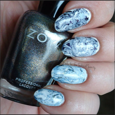 Dry Marble nail art by Kelly Callahan