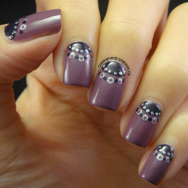 Crowned Half Moon  nail art by Novi