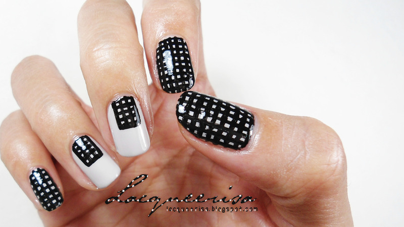 Mod Squares nail art by Lacqueerisa