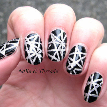 Spiderwebs nail art by Nails & Threads