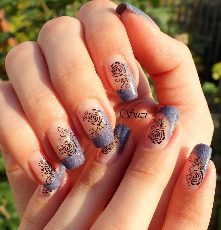 Dirty Roses nail art by Suzi - Beauty by Suzi