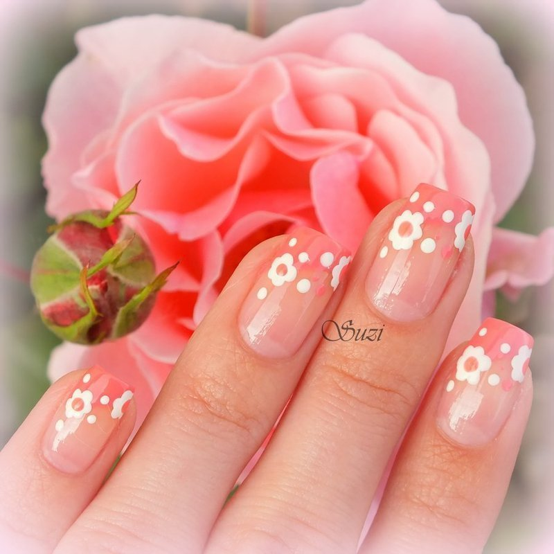 Wedding Flowers nail art by Suzi - Beauty by Suzi