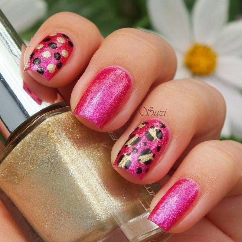 Leopard & Dots nail art by Suzi - Beauty by Suzi