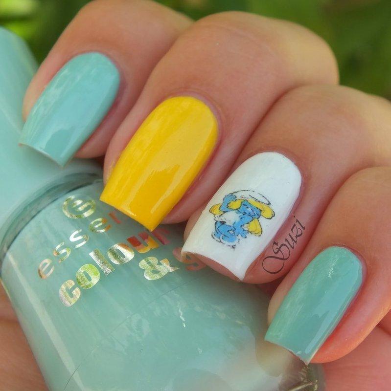 Do you love Smurfette? nail art by Suzi - Beauty by Suzi