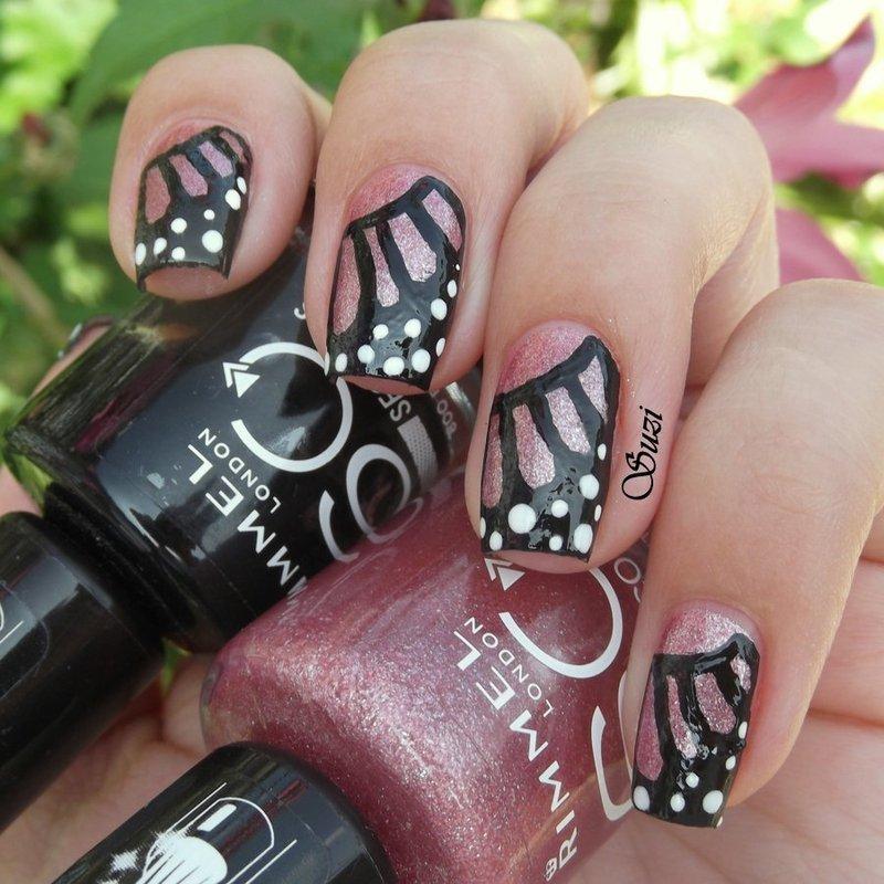Butterfly Wings nail art by Suzi - Beauty by Suzi