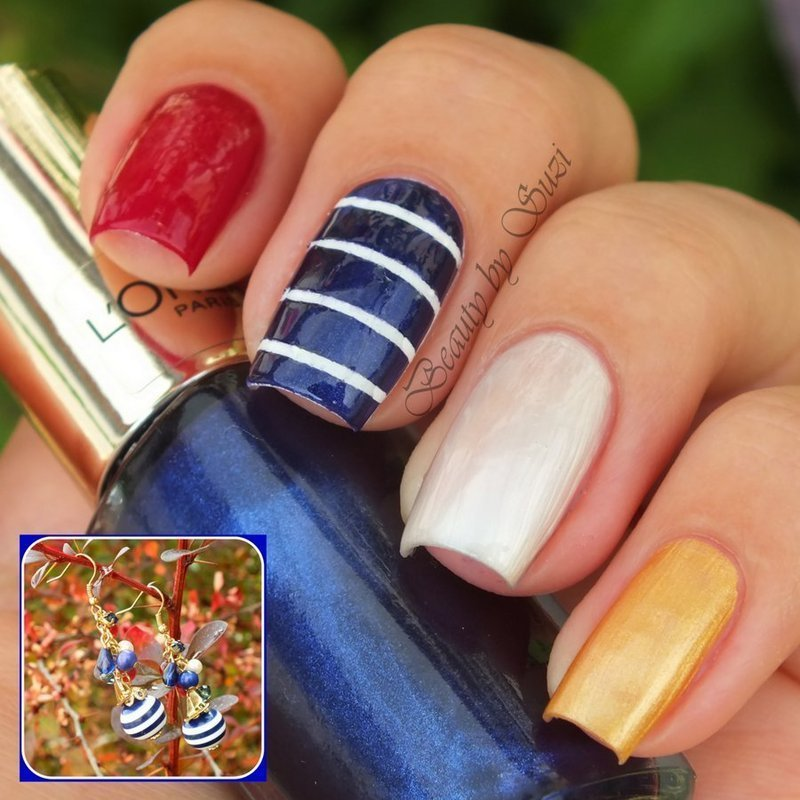 Nautical nail art by Suzi - Beauty by Suzi
