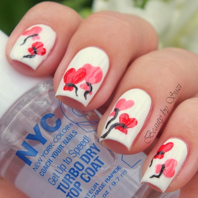 Heart Baloons version 2 nail art by Suzi - Beauty by Suzi