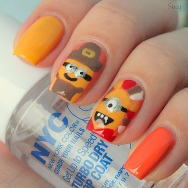 Thanksgiving Minions nail art by Suzi - Beauty by Suzi
