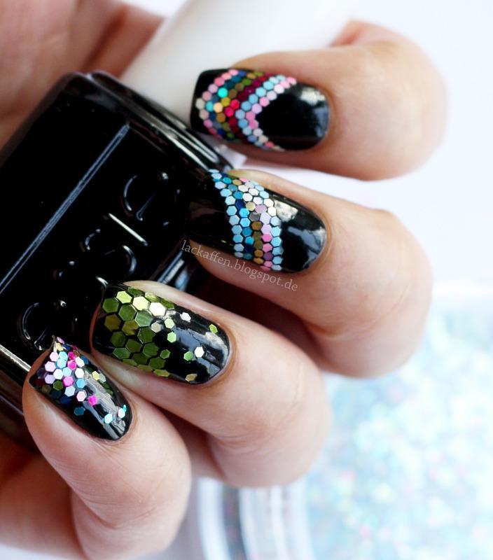 Loose glitter skittle nail art nail art by Tartelette - Nailpolis ...