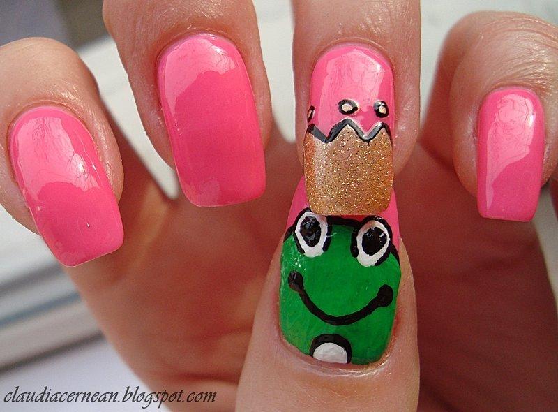 Frog nails nail art by claudia nailpolis museum of nail art frog nails nail art by claudia prinsesfo Images