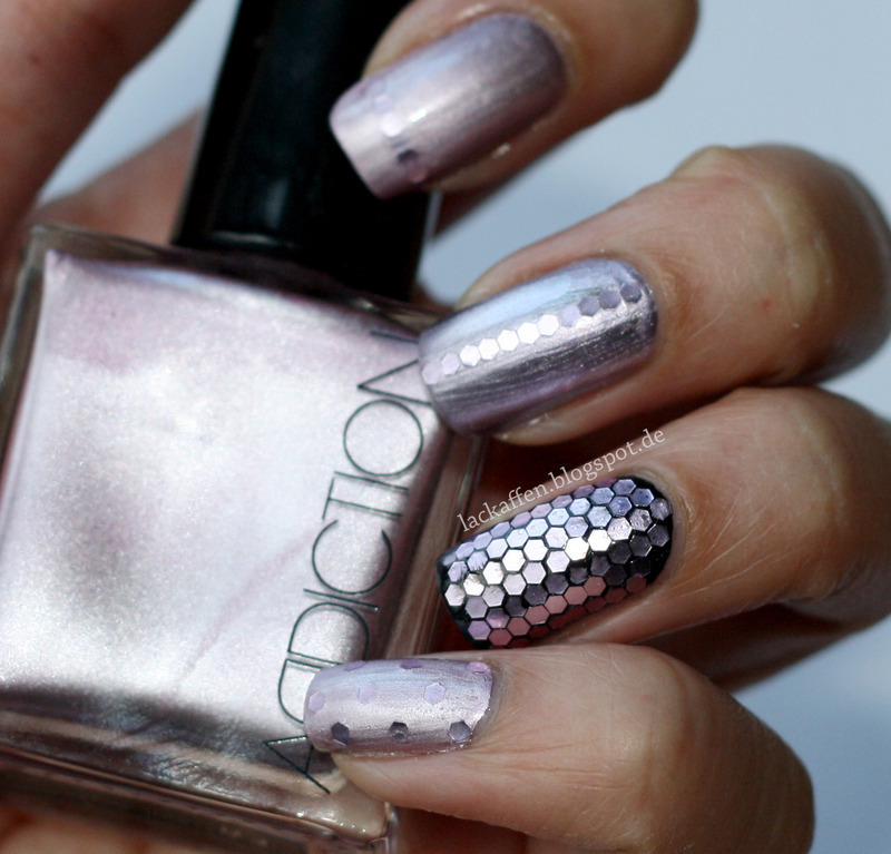 lilac loose glitter accent nail nail art by Tartelette
