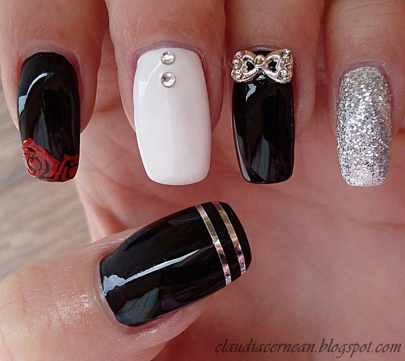 Roses Nails nail art by Claudia