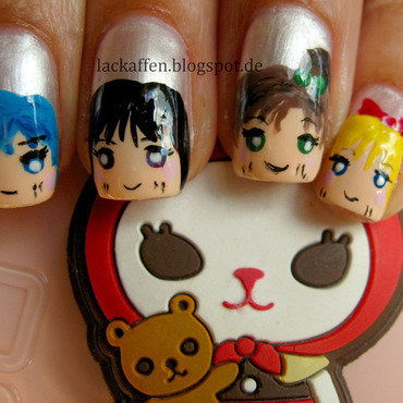 Sailor Moon Nail Art nail art by Tartelette