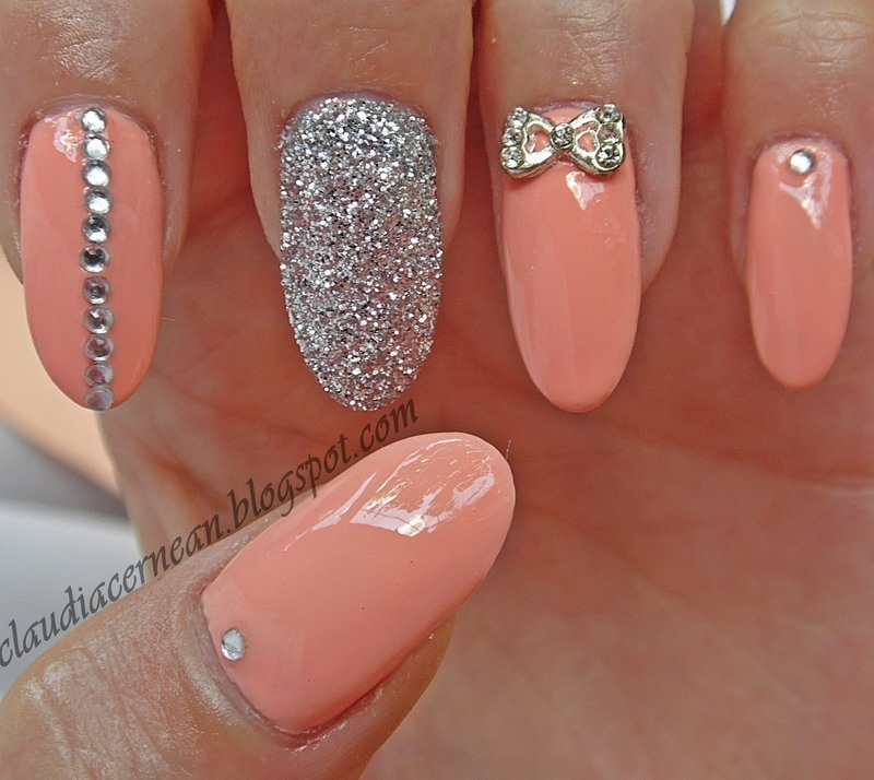 Peach Nails Nail Art By Claudia Nailpolis Museum Of