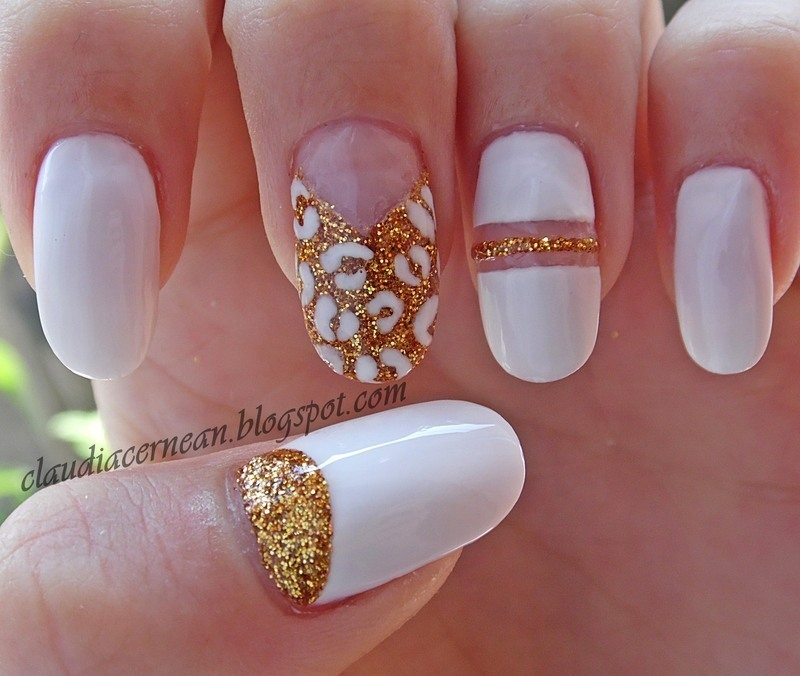 White And Gold Nails Nail Art By Claudia Nailpolis Museum Of Nail Art
