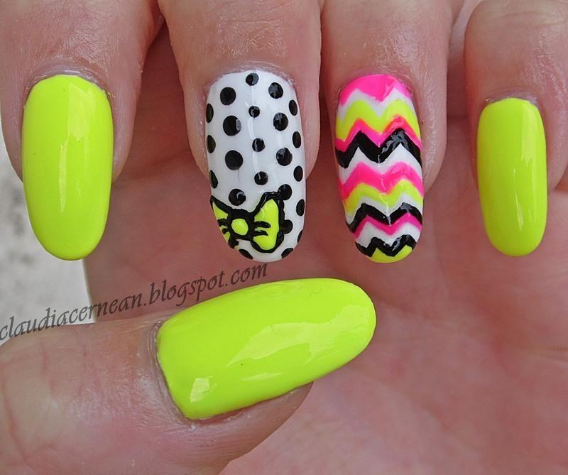 Summer Nails nail art by Claudia