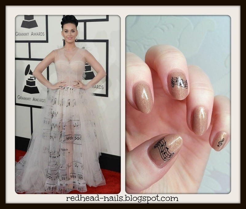 Grammy inspiration nail art by Redhead Nails