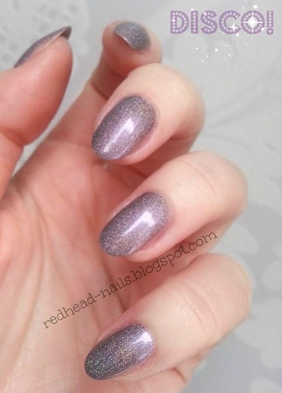 Disco, baby! nail art by Redhead Nails