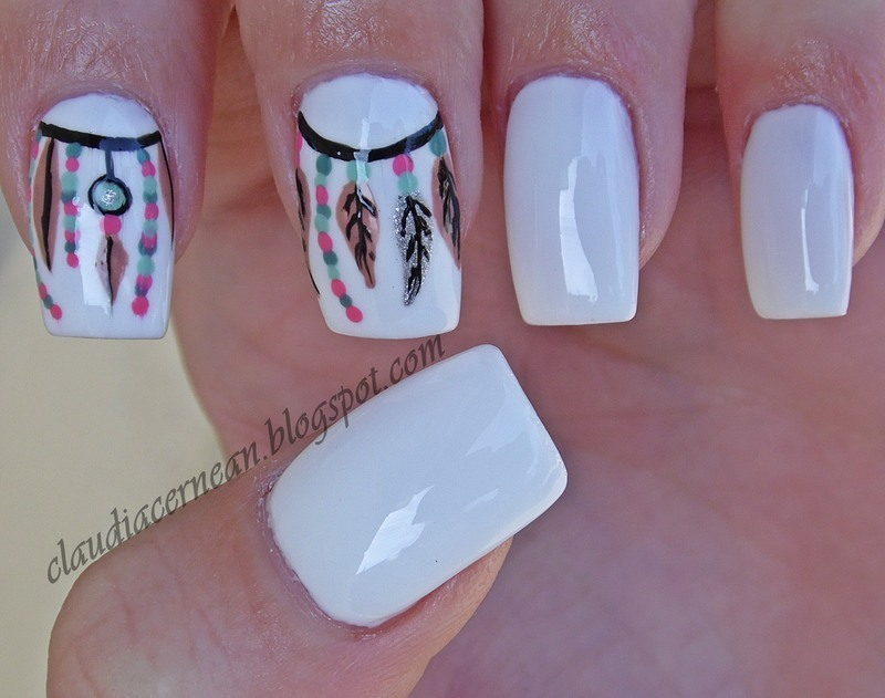 Dream Catcher Nails nail art by Claudia