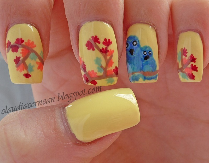 Autumn Nails nail art by Claudia