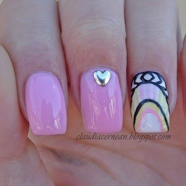 Heart Studs Nails nail art by Claudia