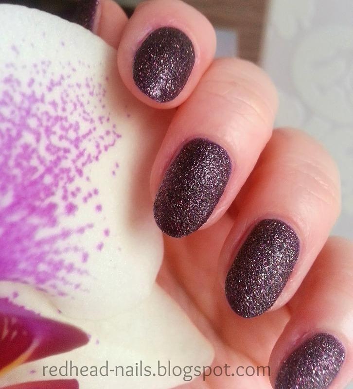 Dark sand nail art by Redhead Nails