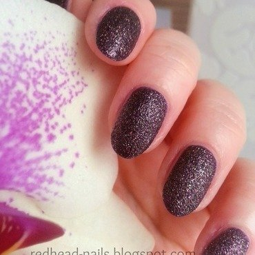 Dark sand nail art by Redhead Nails