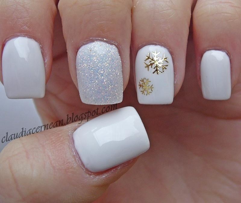 Snowflakes Nails nail art by Claudia