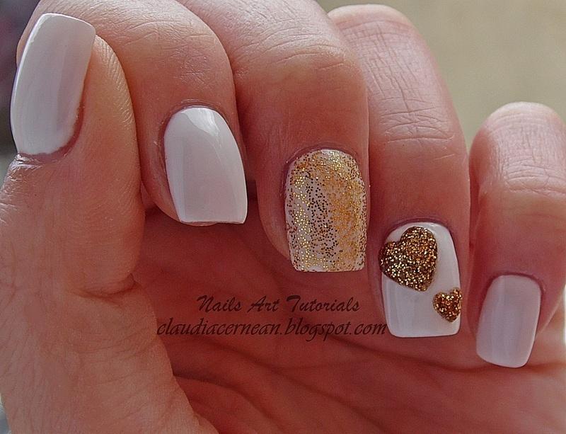 Acrylic Heart Nails nail art by Claudia
