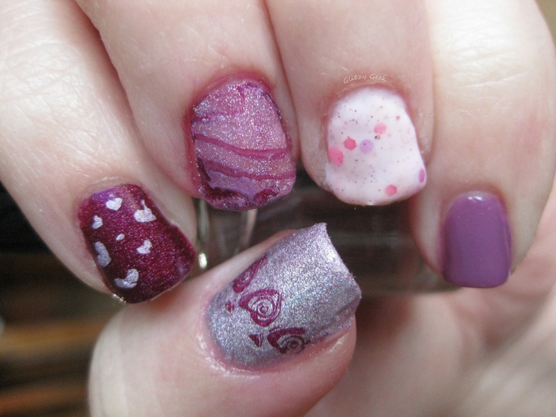 Blushing Berries nail art by Andi